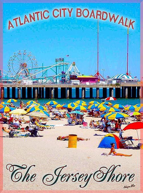 Amazon.com: Atlantic City Boardwalk playa Nueva Jersey Shore ...