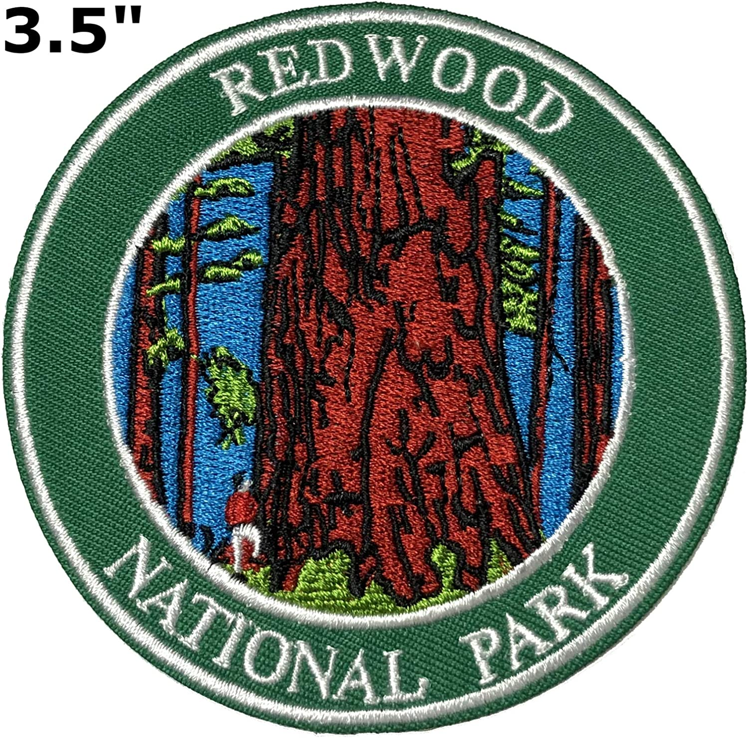 Sequoia Redwoods National Park Embroidered Patch Iron Sew-On Souvenir Applique
