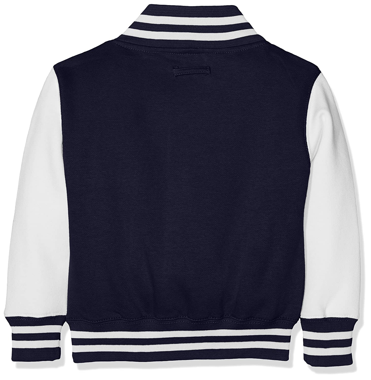 NavyWhite Varsity Kids Jacket Cappuccio Awdis Blu Bambino Oxford qzOfxx0Rw