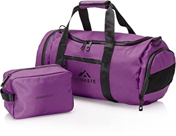 7b6402e8481 Homaste Sac de gym et trousse de toilette kit Bundle – étui Sports Sac de  sport