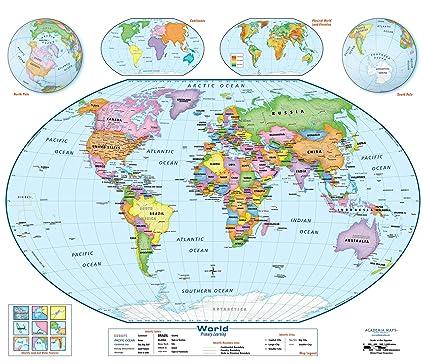 Amazon.com : World Wall Map Poster - Large 51\