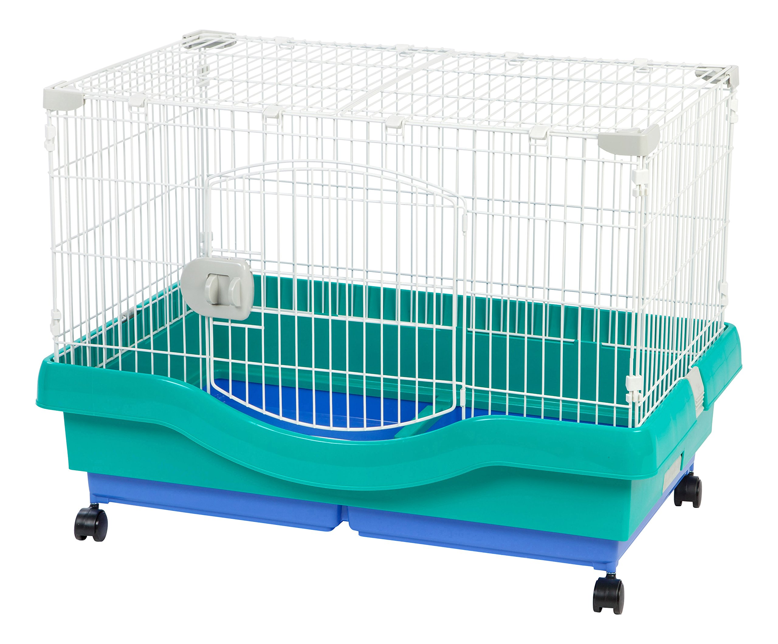 IRIS Mobile Wire Animal House, Green