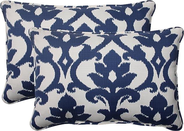 Pillow Perfect Outdoor Indoor Basalto Navy Oversized Lumbar Pillows 24 5 X 16 5 Blue 2 Count Home Kitchen Amazon Com