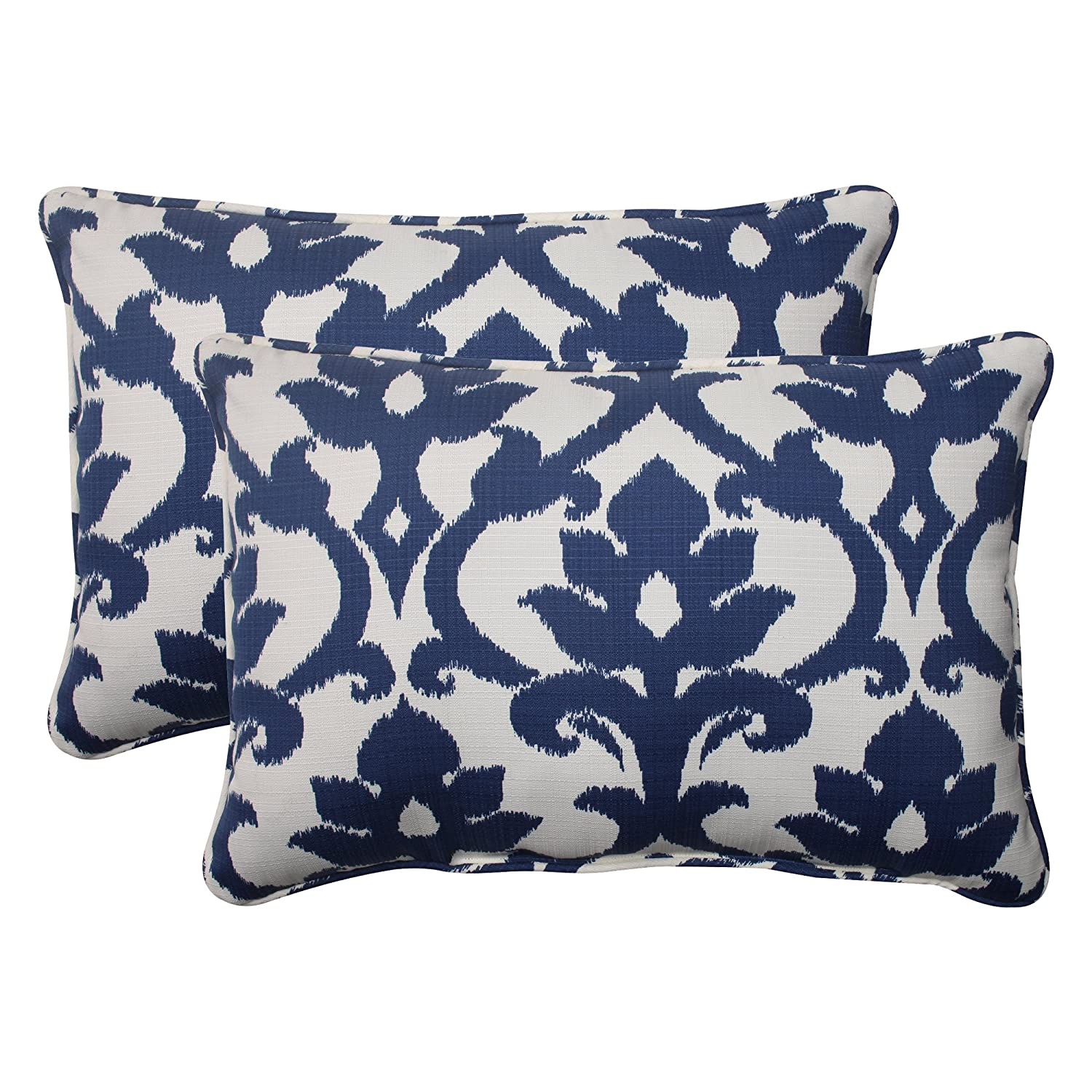 amazon stripes com cover decorative pillow dp navy printed home pillows kitchen throw