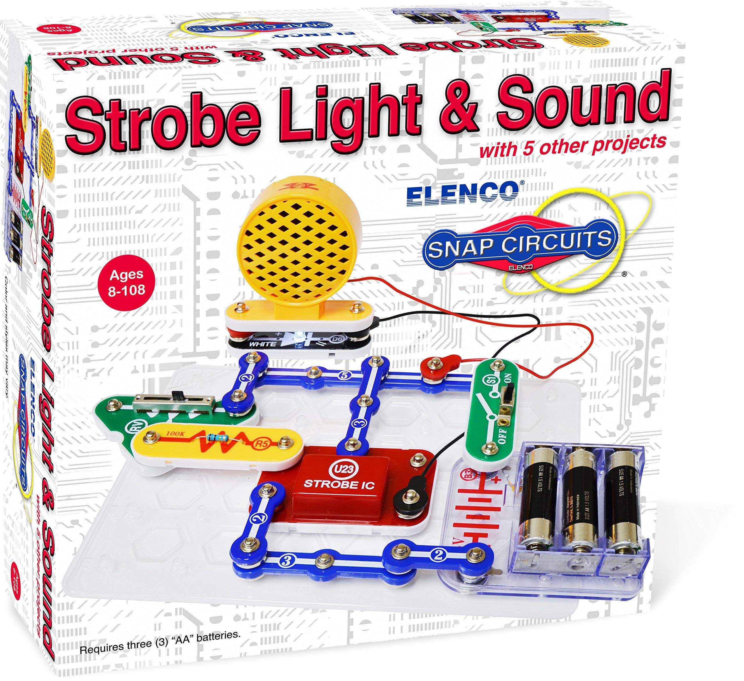 Elenco Electronics SCP-14 Snap Circuits Strobe Light & Sound Kit (Renewed)