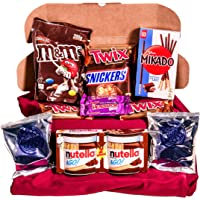 Caja regalo de bombones y chocolates - Nutella Go, Snickers, Twix, Mikado, Mini Oreo, M & M´s, Minihuesitos. Regalo…