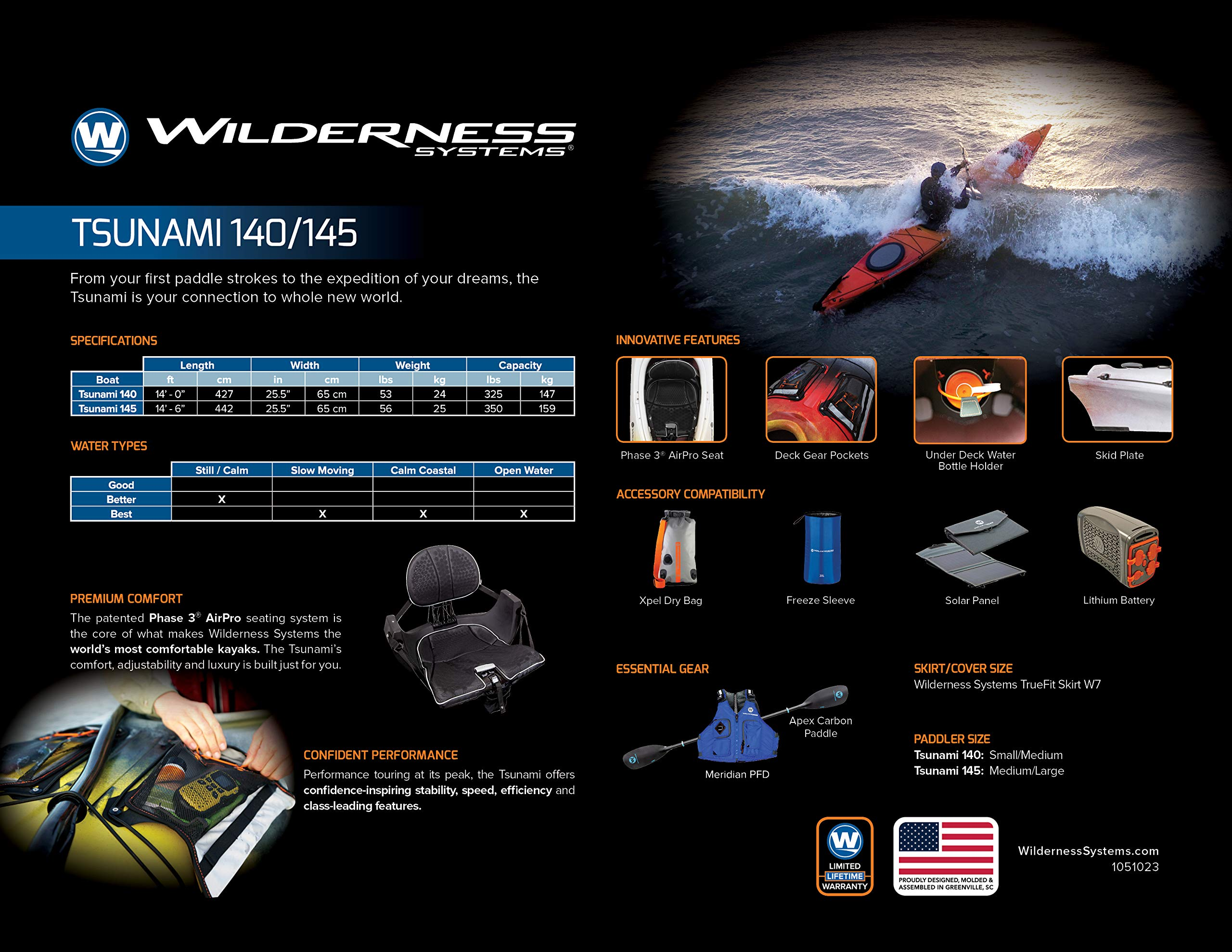 Wilderness Systems 9720408163 Tsunami 140 Kayaks, Borealis, 14' by Wilderness Systems