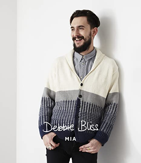 Db016 Debbie Bliss Mia Knitting Pattern For Mens Shawl Collar