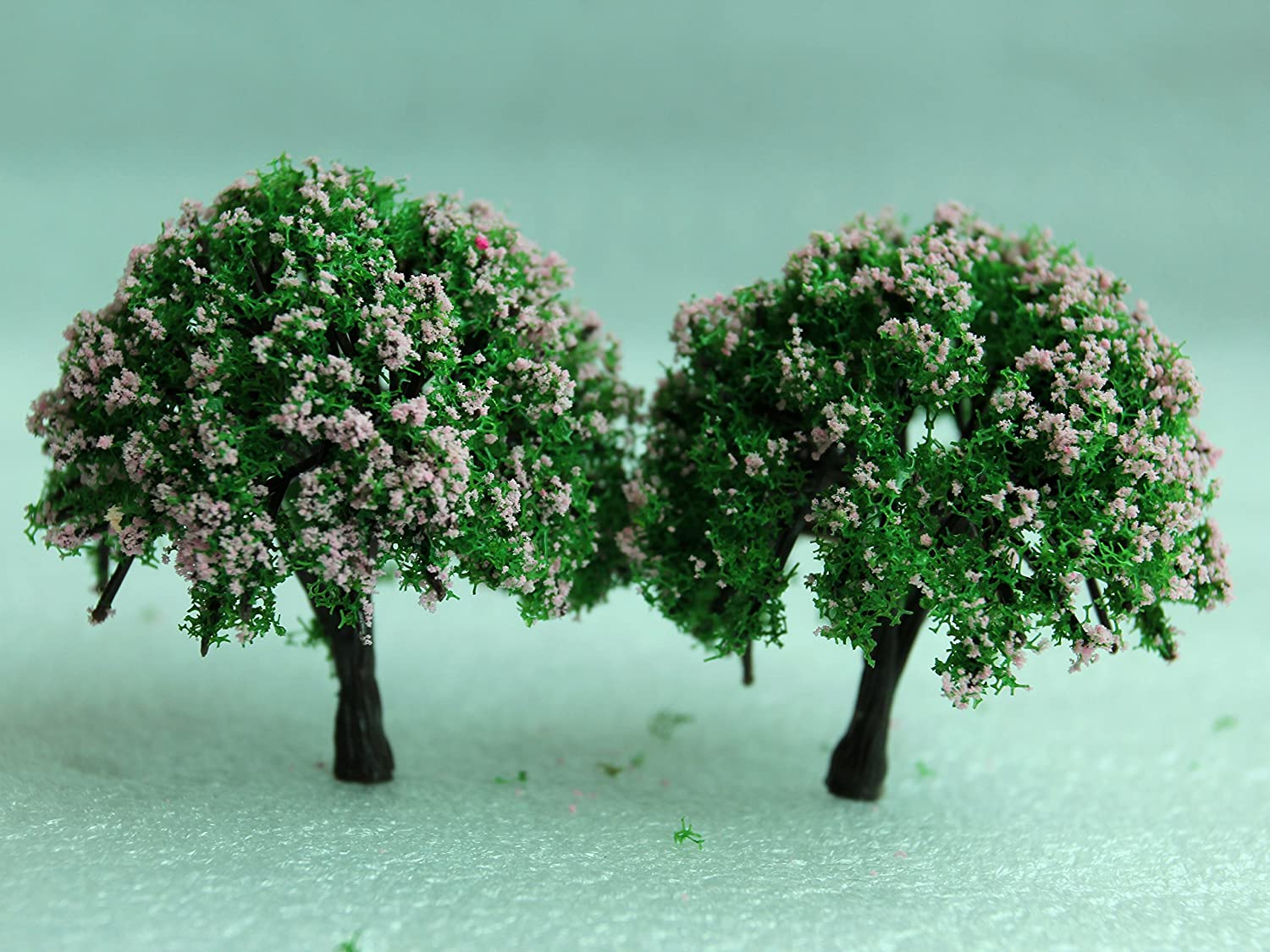 SecretRain Miniature Garden Fairy Ornament Flower Pot Plant Pot Home Decor 2pcs Tree Set by SecretRain