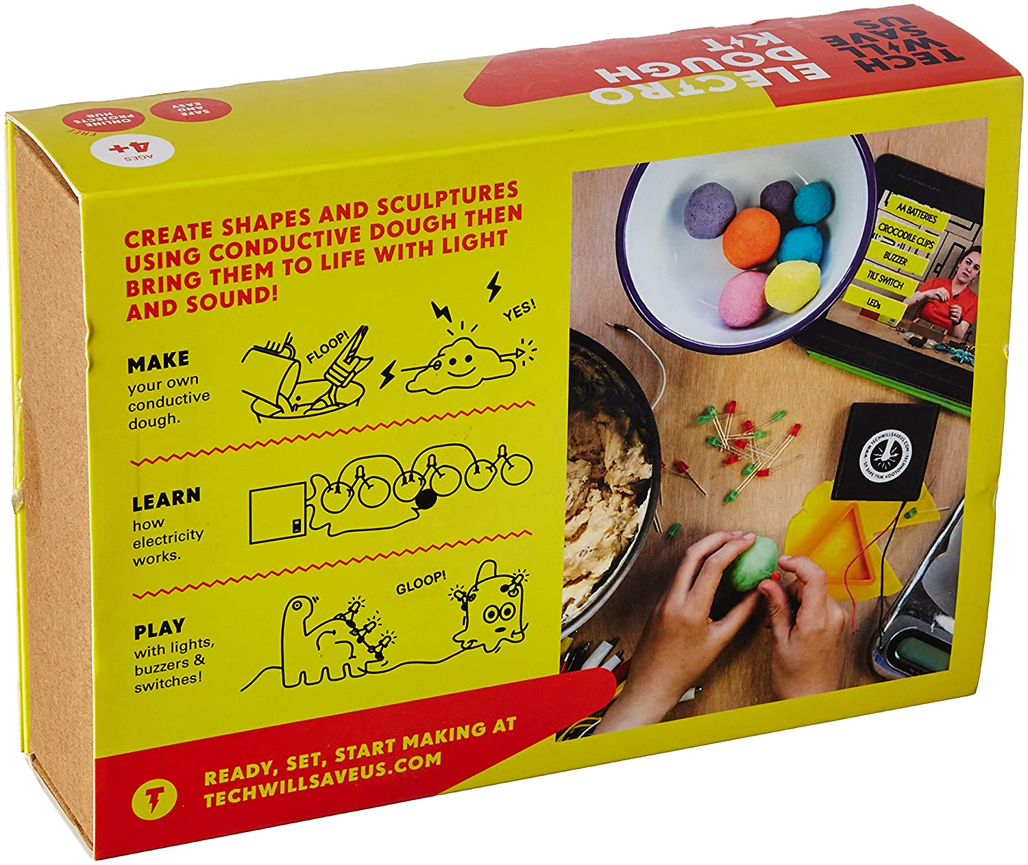Tech Will Save Us Electro Dough Kit Educational Stem Squishy Circuits Making Conductive Toy Ages 4 And Up Toys Games