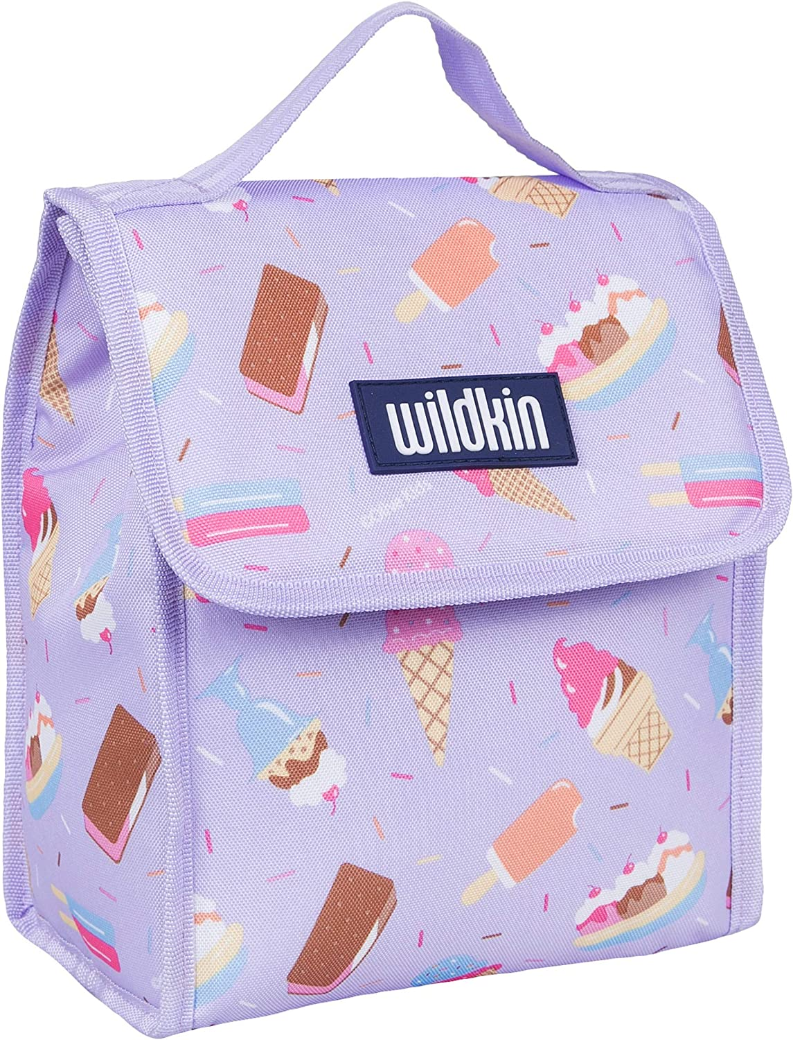 Wildkin Kids Insulated Lunch Bag for Boys and Girls, Lunch Bags is Ideal Size for Packing Hot or Cold Snacks for School and Travel, Mom's Choice Award Winner, BPA-Free, Olive Kids (Sweet Dreams)