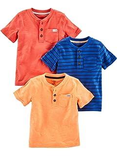 7171ccf2078c8 Simple Joys by Carter's Toddler Boys' 3-Pack Short-Sleeve Pocket Henley Tee