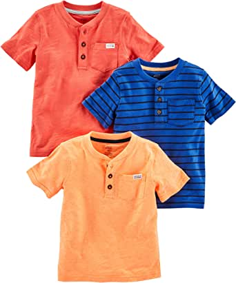 Simple Joys by Carter's 3-Pack Short-Sleeve Pocket Henley tee Shirt Bebé-Niños, Pack de 3