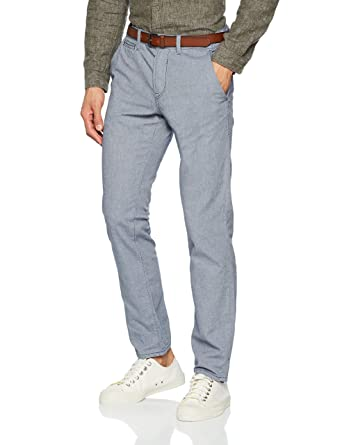 Tom Tailor Chino with Belt, Short Homme, (Black Iris Blue 6740), W32
