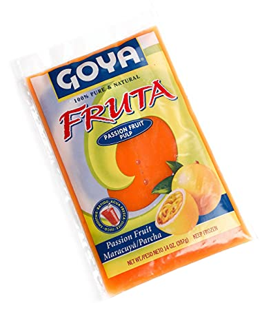 goya parcha passion fruit pulp 14 ounce units pack of 12 amazon rh amazon com