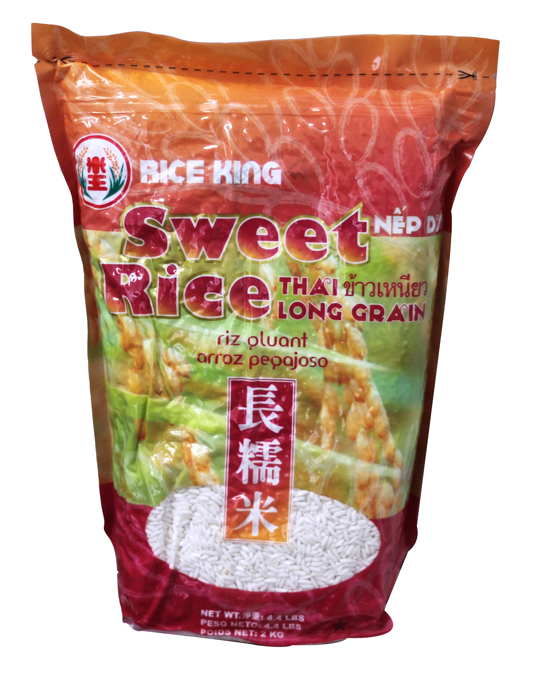 米王 长糯米 Rice King Thai Sweet Rice -long grain 4.4lbs