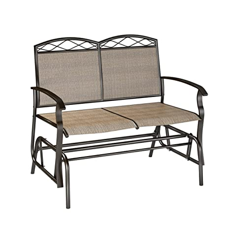 CorLiving PZT 325 G Patio Double Glider, Speckled Brown/Mixed Brown/