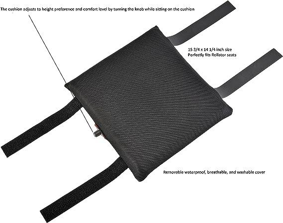 Amazon.com: juvo smart-air Rollator memoria Cojín de asiento ...