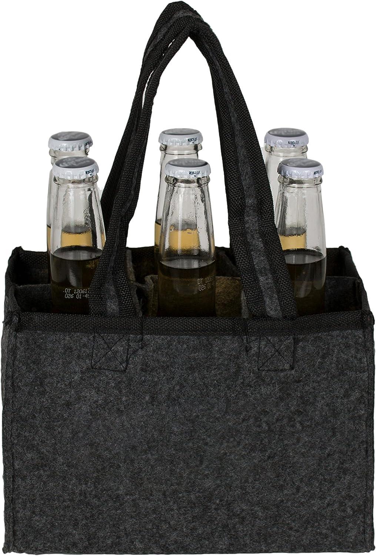 /pour 6/bouteilles/ /en feutre/ Brandsseller Messieurs Panier /à bouteilles Porte-bouteilles Sac Shopping Sac /à main Sacoche de rangement/ /Diff/érents Designs Anthra-ohne Beschriftung