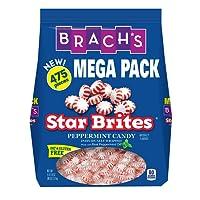 Brach's Star Brites Peppermint Starlight Mints Hard Candy, 5.6 Pound Value Pack