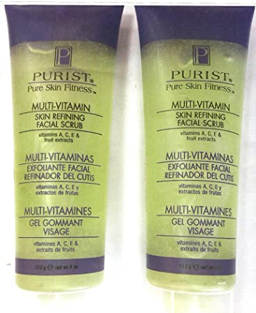 Amazon.com: 2 LARGE TUBES OF PURIST PURE SKIN FITNESS LOTION/GEL//SKIN REFINING FACIAL SCRUB W/ MULTI VITAMINS...: Beauty