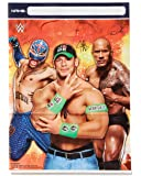 """Grand Slammin' WWE Birthday Party Plastic Favour Loot Bags  (8 Pack), Multi Color, 9"""" x 6 1/2""""."""