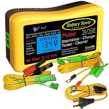 Amazon.com: Cargador de batería Saver 2365-lcd, Mantenedor ...