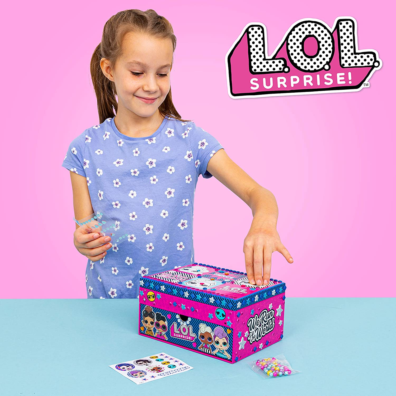 42-0012//19 Decorate Your Own Jewellery Box for Girls-LOL Surprise Surprise L.O.L