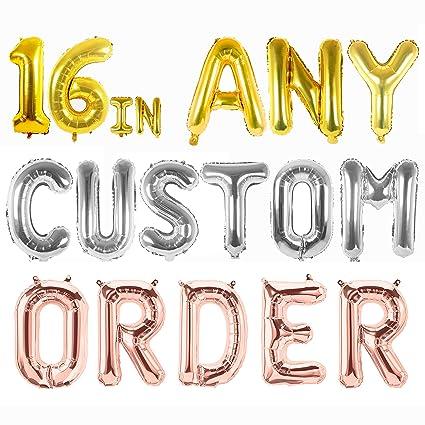 Amazon.com: Letter Balloons   Any Custom Phrase 16