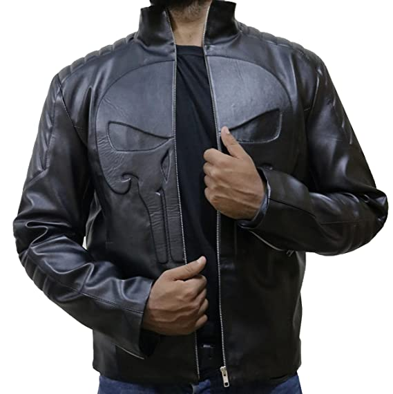 68ef3472dbc The Jasperz Frank Castle Thomas jane Punisher skull Leather jacket ...