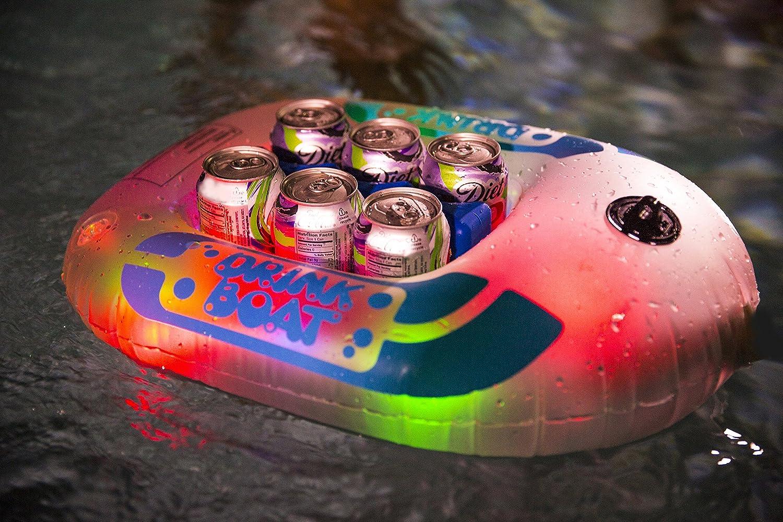 Amazon.com: Iluminado paquete de 6 barco enfriador de ...