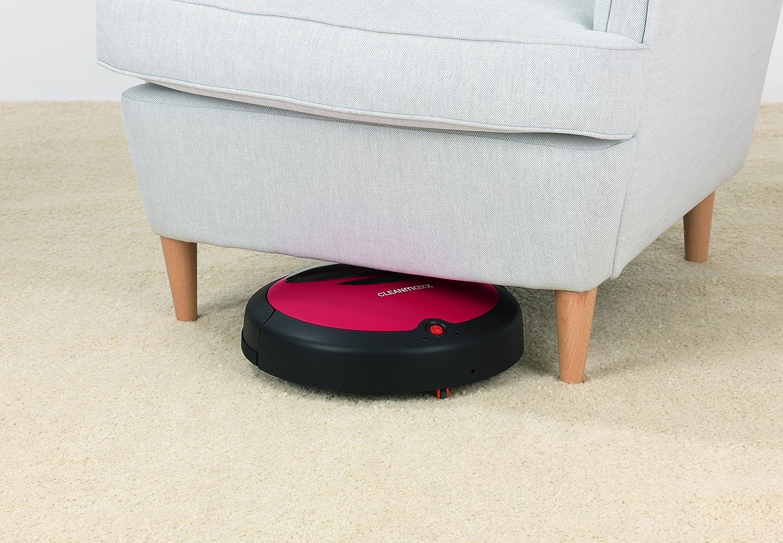 Cleanmaxx 09860/- Robot de aspiraci/ón con mopa para el suelo 2/en 1 control por sensores color rojo y negro robot aspirador autom/ático