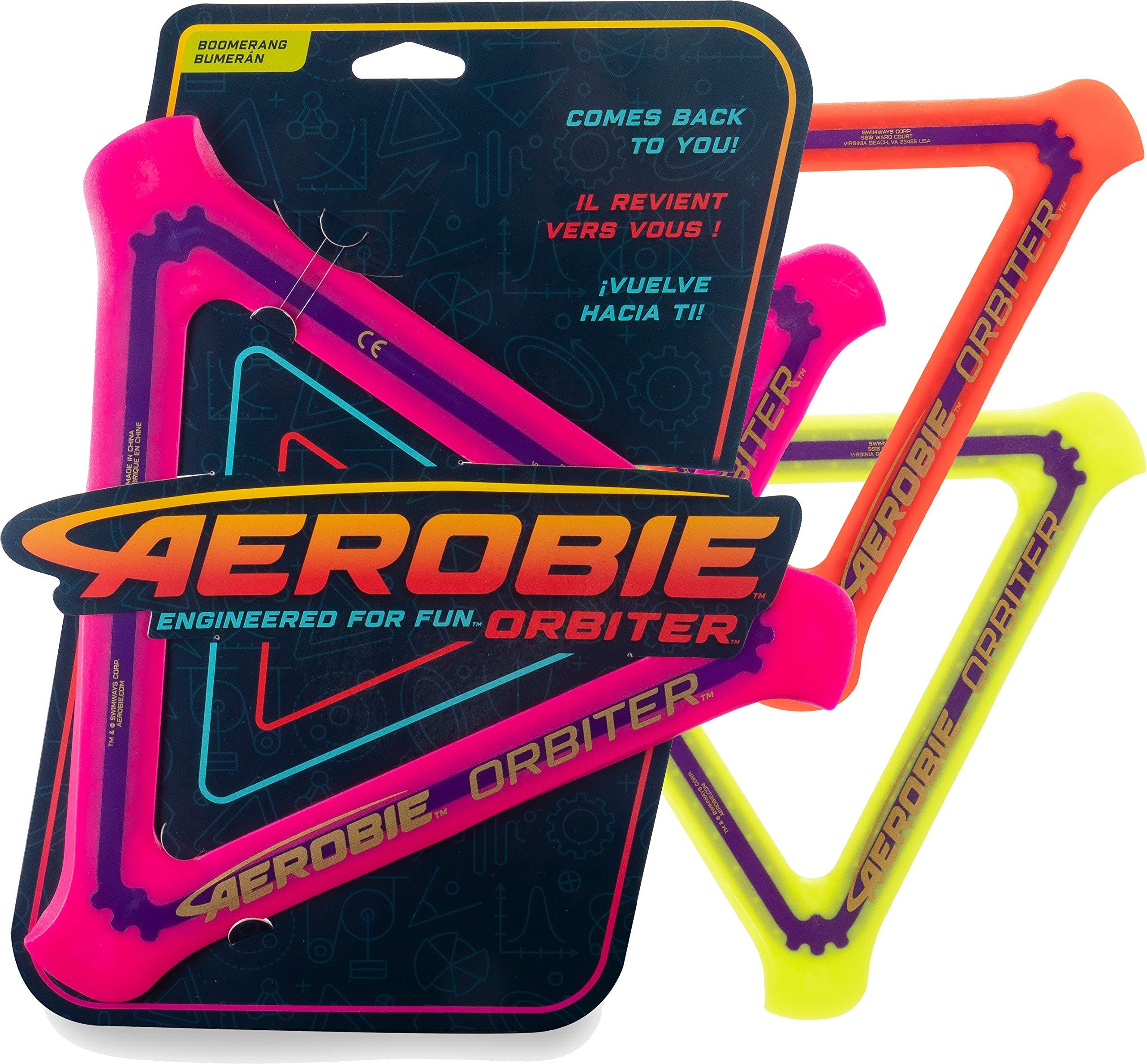 Aerobie Orbiter Boomerang - Outdoor Returning Toy - Magenta