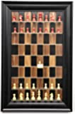 "Straight Up Chess Red Deluxe Set (2 1/2"") Chess Pieces on Vertical Wall Hung Dark Walnut Series Board with The Wide…"