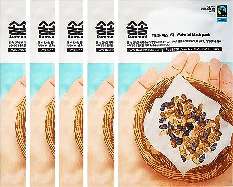 Comercio justo somsom Waterful máscara unidades 5 hojas, 3 ...