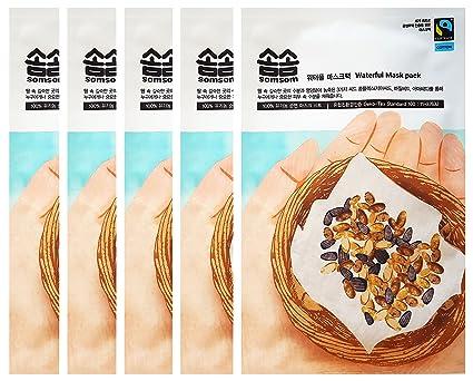 Comercio justo somsom Waterful máscara unidades 5 hojas, 3 semillas complejo (semillas de chia