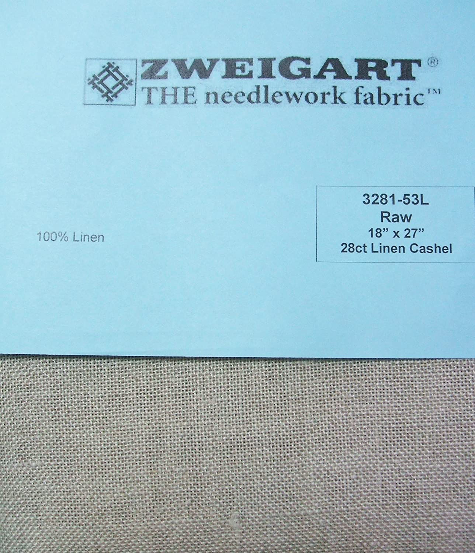 Zweigart 100/% Linen Cashel Raw 28 Ct 18 x 27 Cross Stitch Fabric 3281-53L