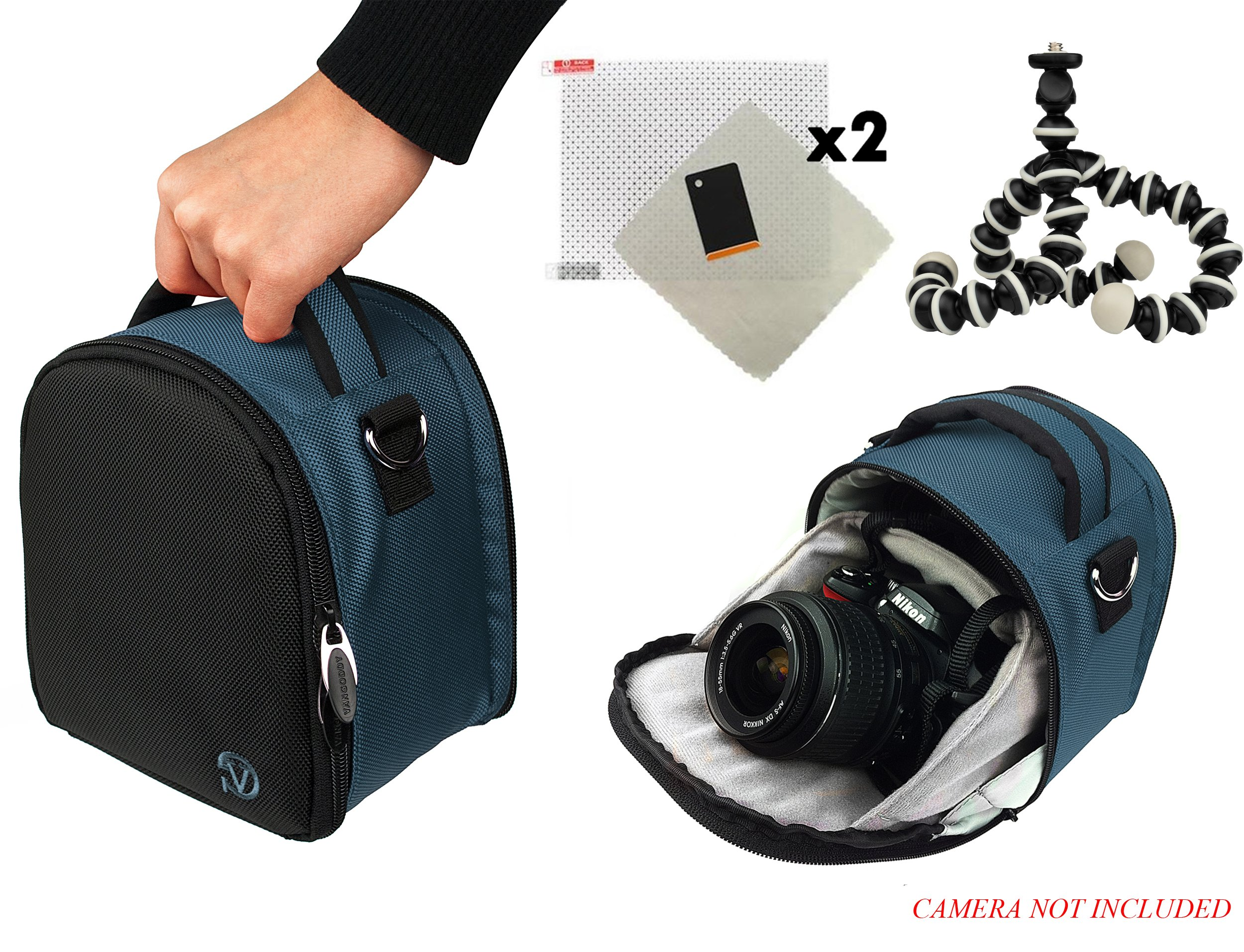 Laurel Travel Camera Bag Case For Sony Alpha A6000, A7, A7R, A7s, DSC-HX400V DSLR Camera + Screen Protector + Screen Protector + Mini Tripod
