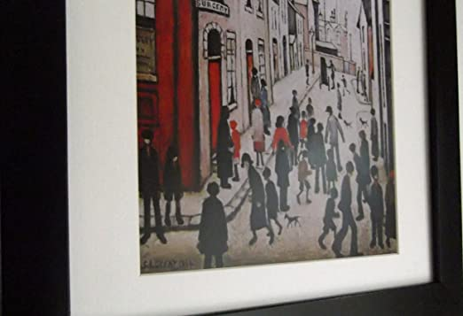 Stateoftheart-uk THE BLACK FRAMED COLLECTION of L S Lowry Pictures//Prints 16 x 13 inch Frame With Soft White Mount And LINCOLN Image