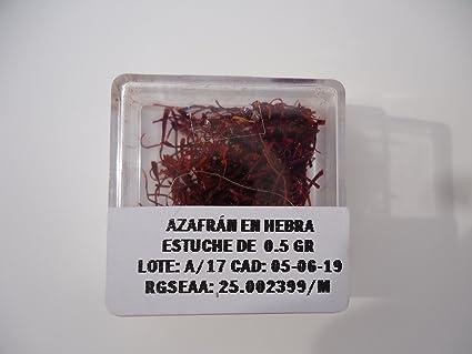 Saboréate y Café Azafrán en Hebra Orgánico Estigma Entero De Flor. Bolsa de 0,5 gramos: Amazon.es: Alimentación y bebidas