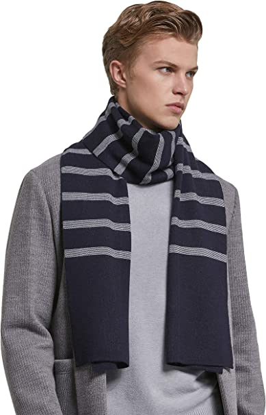 Mens Winter Cashmere Feel Australian Merino Wool Soft Warm Knit Scarf Gift Box