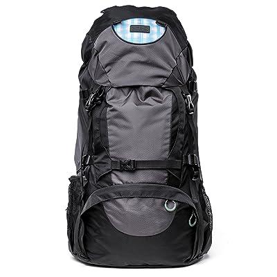 Imperméable Sac de randonnée 50L pour adultes avec dos aéré Filet–Parfait pour les randonnées les randonnées, camping ou Backpacking | avec avant, de Pages, de sol e