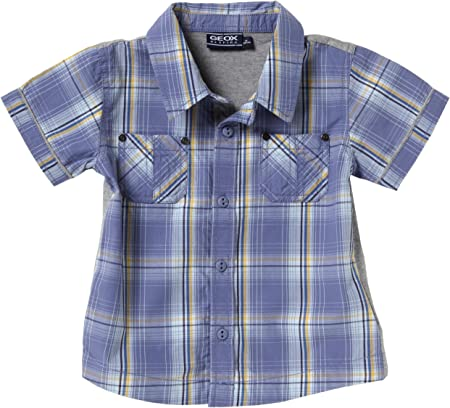 Geox - Camisa para niño azul de 100% algodón, talla: 92 (24M ...