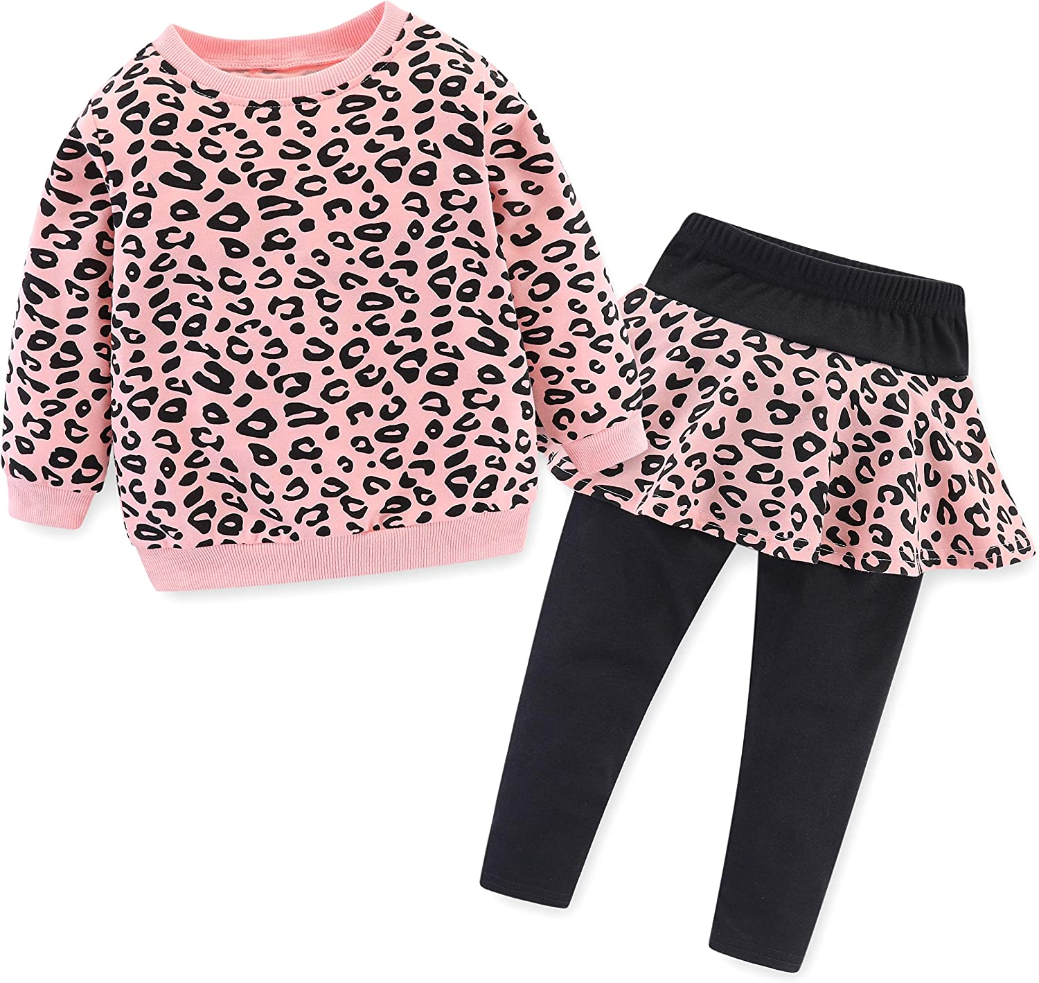 BomDeals Adorable Cute Toddler Baby Girls Clothes Set,Long Sleeve T-Shirt +Pants Outfit