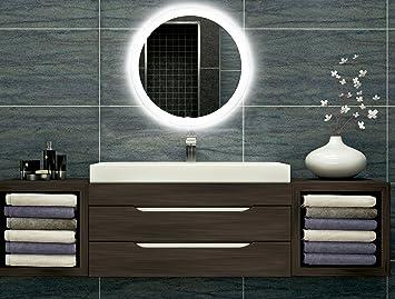 Berühmt Badezimmerspiegel mit Beleuchtung LED Spiegel - 40 cm Durchmesser SB94