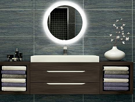 Badezimmerspiegel Mit Beleuchtung Led Spiegel 40 Cm Durchmesser