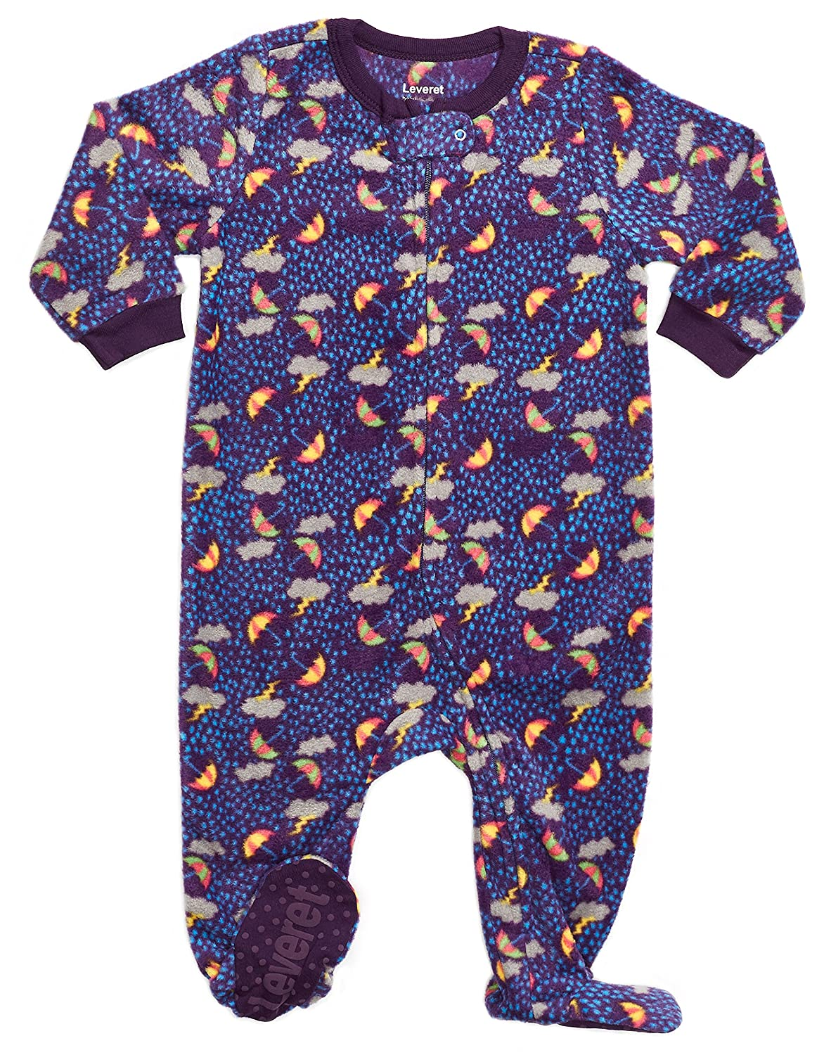 Leveret Fleece Baby Girls Footed Pajamas Sleeper Kids & Toddler Pajamas (3 Months-5 Toddler)
