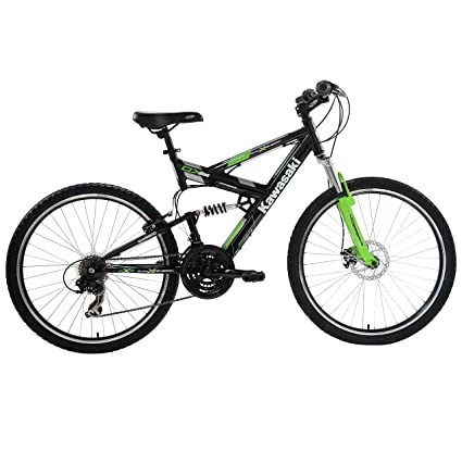 Amazon Com Kawasaki Dx Full Suspension Mountain Bike 26 Inch