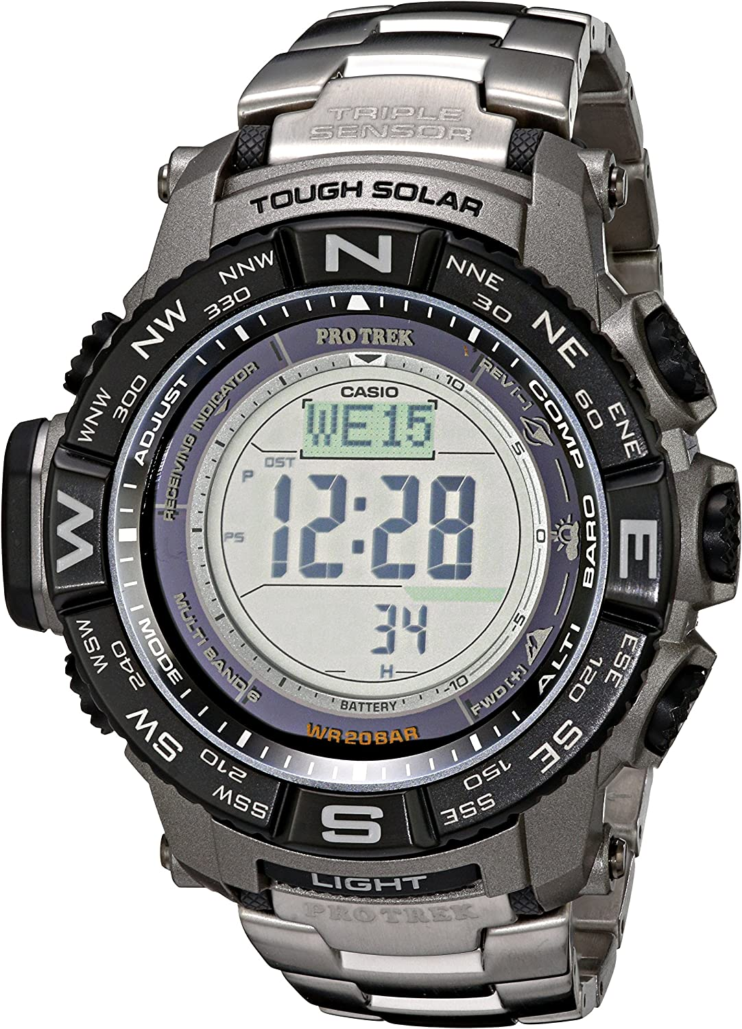Casio Men s Pro Trek PRW-3500T-7CR Tough Solar Triple Sensor Digital Sport Watch