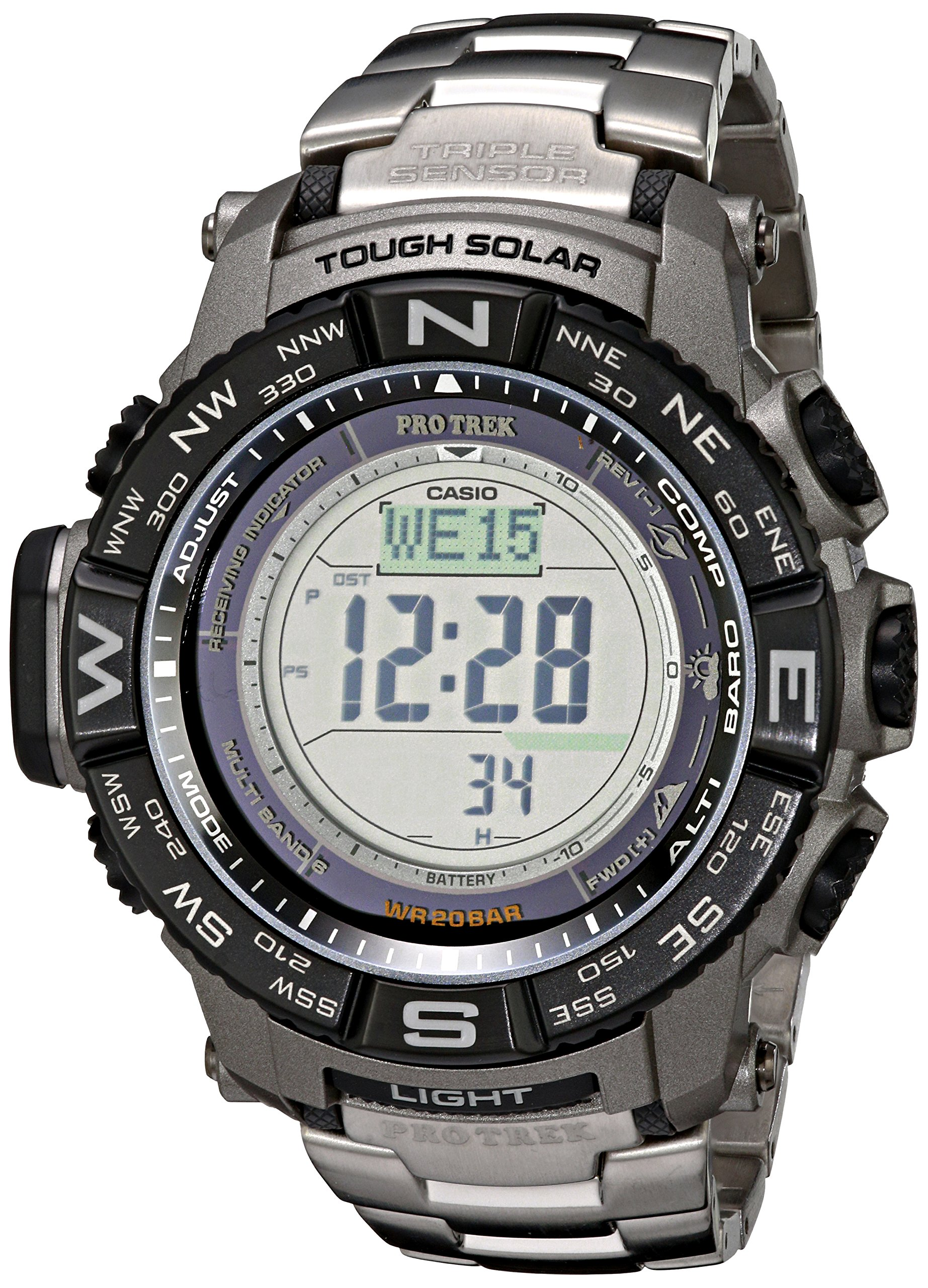 Casio Men's Pro Trek PRW-3500T-7CR Tough Solar Triple Sensor Digital Sport Watch by Casio